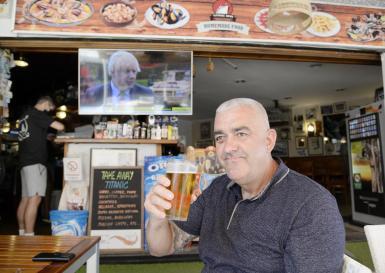 Magalluf bar owner celebrates,