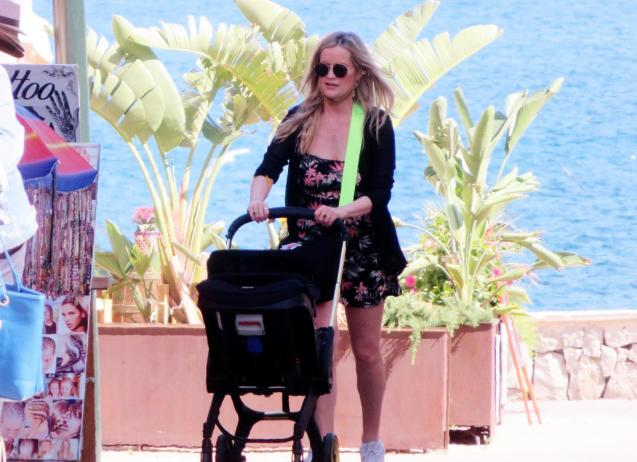 Host Laura Whitmore out and about in Majorca.