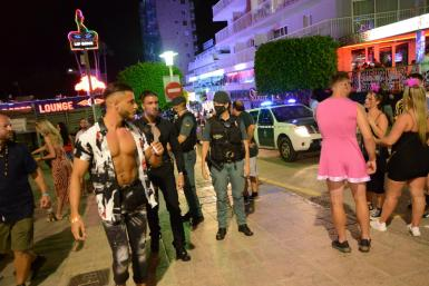On Saturday, officers from the GRS in Madrid were deployed in Magalluf.