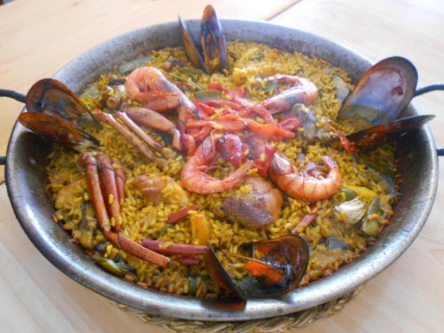 We enjoyed the mixed paella immensely
