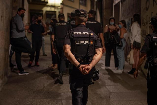 Local police on patrol