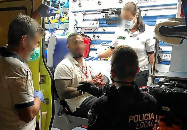 A Briton was taken to hospital in Mallorca after being punched some half a dozen times