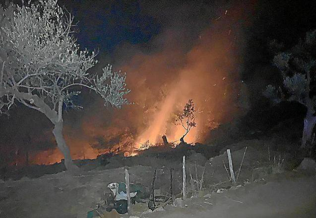 Forest fire in Soller, Mallorca