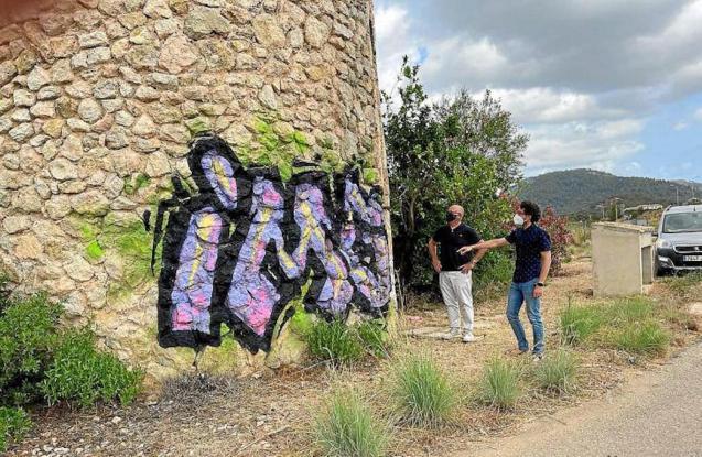 Son Cladera mill graffiti, sa Pobla.
