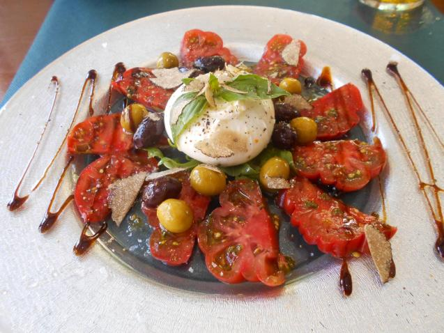 The burrata came with a tomato salad