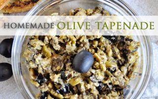 Homemade Olive Tapenade Recipe