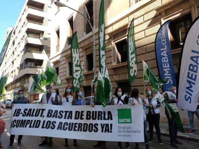 Nurses protesting, Palma.