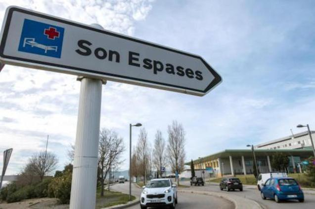 Son Espases Hospital sign, Palma.