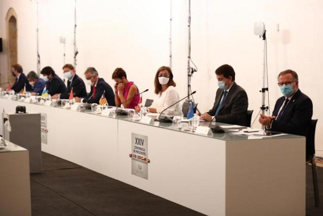 Balearic President, Francina Armengol & other delegates at the XXIV Conference of Presidents of Autonomous Communities.