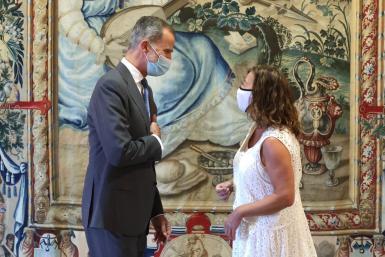 King Felipe with President Armengol.
