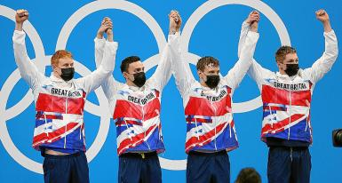 Swimming - Men's 4 x 200m Freestyle Relay - Medal Ceremony