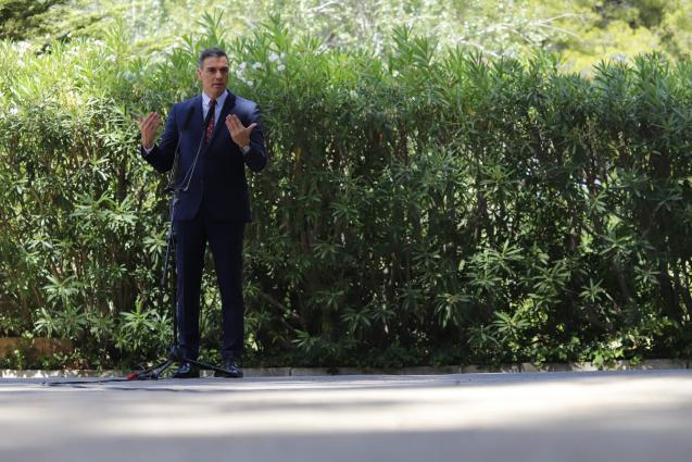 Pedro Sánchez speaking in Palma, Mallorca