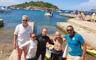 Nick from Yachting Gives Back , Jo, Tim and Pete from Mallorca 360 and Brad from Save the Med