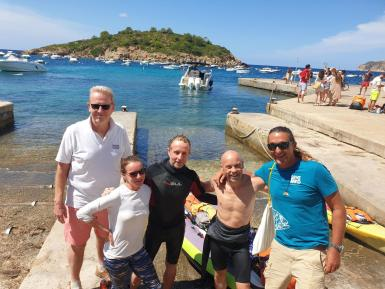 Nick from Yachting Gives Back , Jo, Tim and Pete from Mallorca 360 and Brad from Save the Med.
