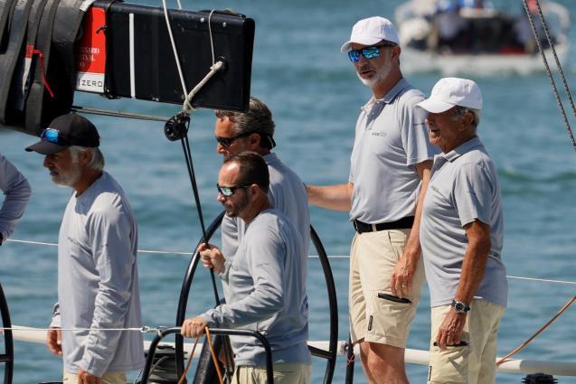 Copa del Rey Mapfre regatta on the bay of Palma