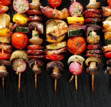 Get those veggies on the grill.