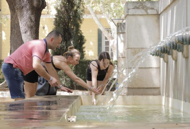 Cooling down in Palma, Mallorca