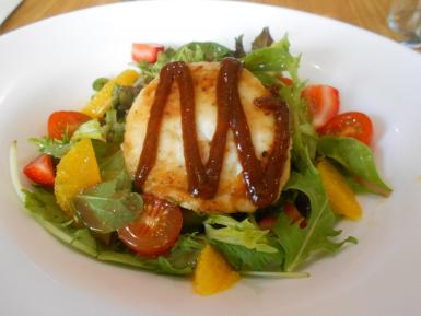 The salad with warm goat's cheese.
