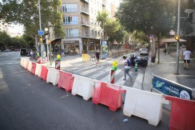 Barriers in place on Wednesday morning.