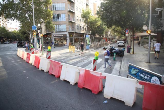 Road closed in Palma, Mallorca ahead of pedestrianisation project