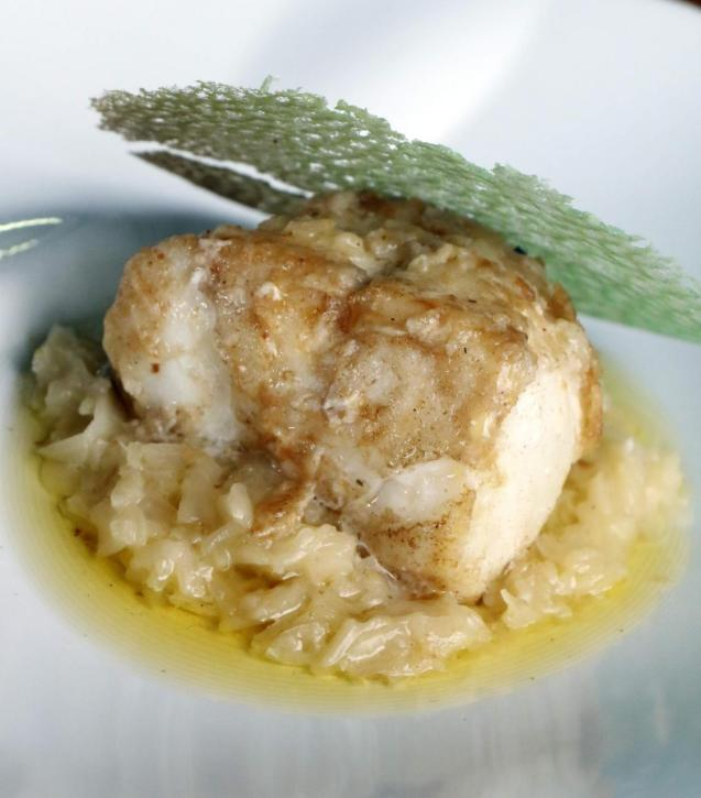 Monkfish with cabbage and lemon butter