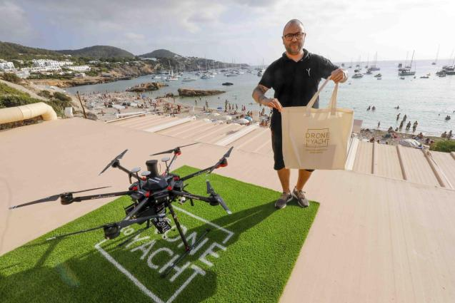 Drone to Yacht in Ibiza
