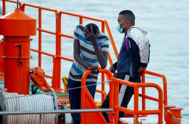 The woman told rescue workers that 40 migrants were aboard the dinghy