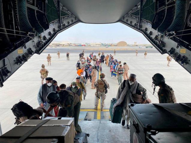 Spain airlifts Spanish embassy staff and Afghans who worked with them from Kabul