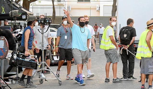 Adam Sandler filming Hustle in Palma, Mallorca