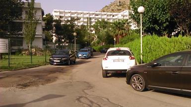 Parking in Bellevue and by the Siestas in Puerto Alcudia.