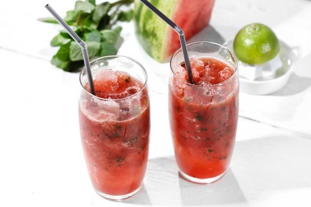 Watermelon and cucumber agua fresca