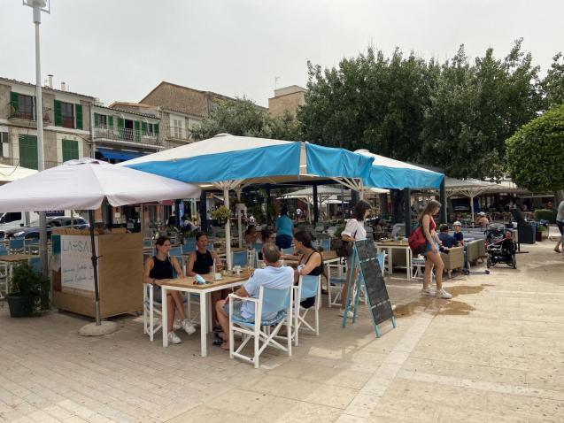 Terrace at a bar in Soller, Mallorca