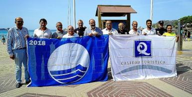 Blue Flags for Calvia beaches in 2018; in 2021 there weren't any.