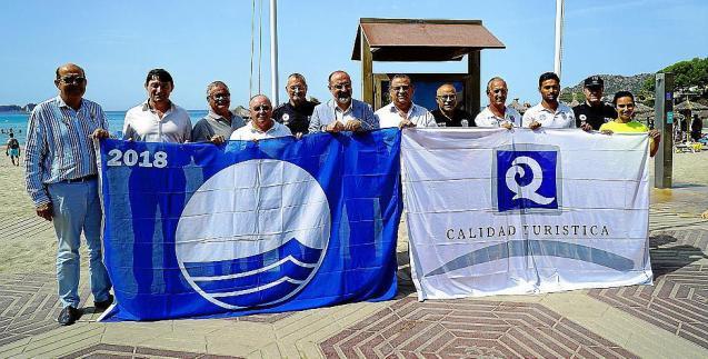 Blue Flags for Calvia, Mallorca