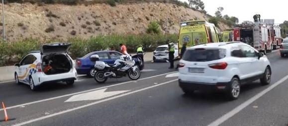 Crash on the Andratx road, Mallorca