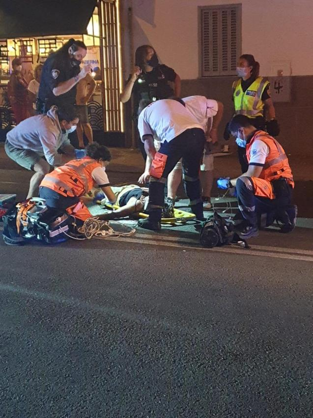 Woman in Mallorca knocked down by drunk driver.