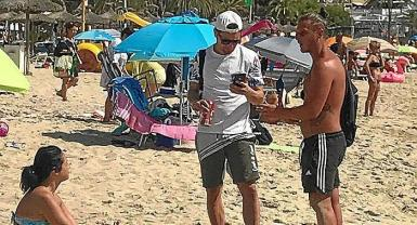 Selling of all kinds is banned on the beach.