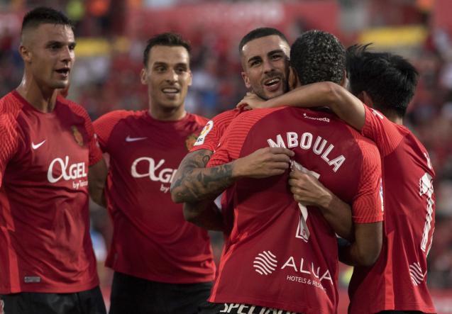 Real Mallorca celebrate goal against Espanyol