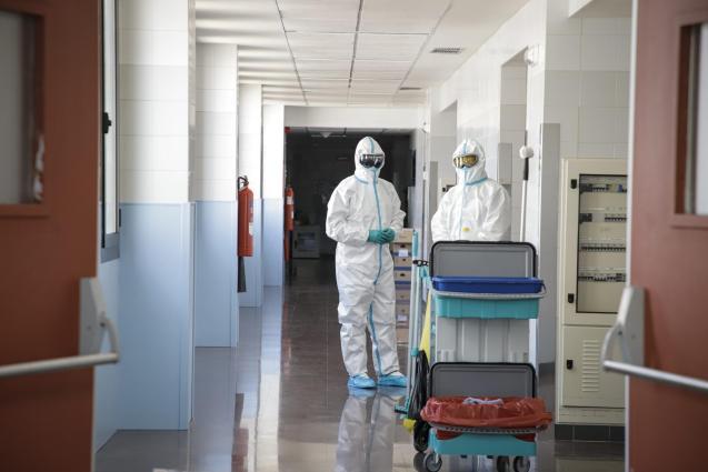 Covid health personnel, Son Espases Hospital, Mallorca