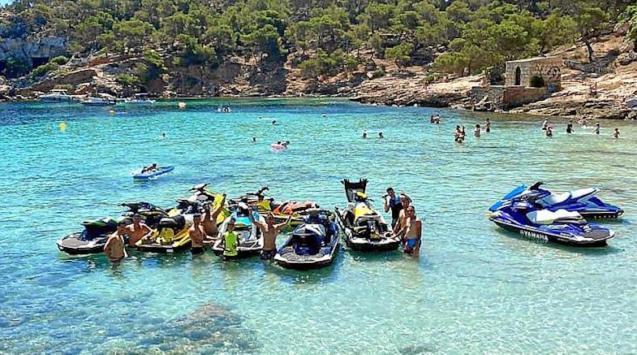 Jet ski riders at a recent event in Mallorca.