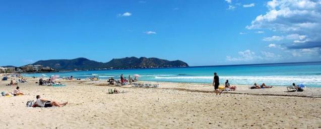 Playa de Cala Millor, Mallorca.