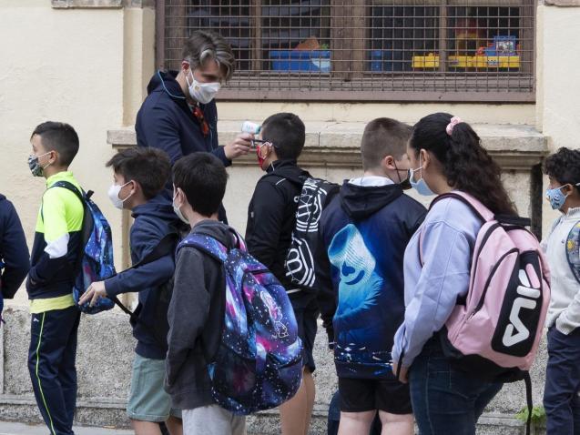 Temperature testing for pupils