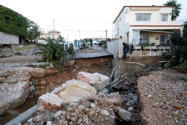 An intense rain storm wreaked havoc in several parts of Spain.