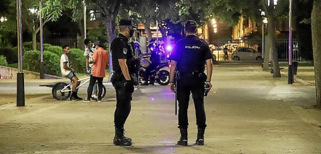 National Police in Palma, Mallorca