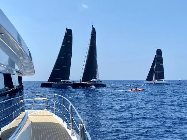The Multihull Cup gets underway.