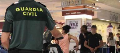 Guardia Civil at Palma Airport.