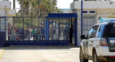 Temporary migrant centre in Spain.