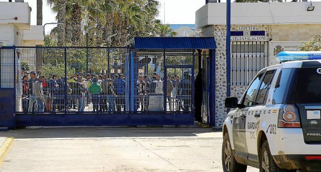 Temporary migrant centre in Spain