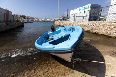 A migrant boat.