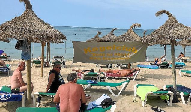 'Kegelclub' German tourism in Playa de Palma, Mallorca